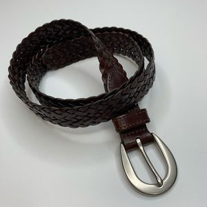 Coach Braided Brown Leather Belt 8518